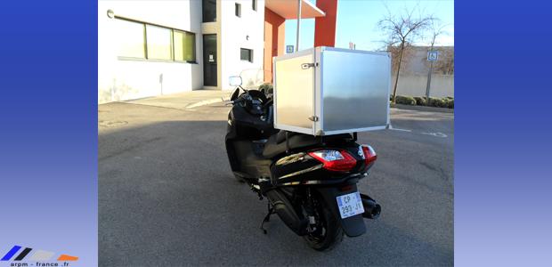 caisson isotherme sur mesure pour scooter