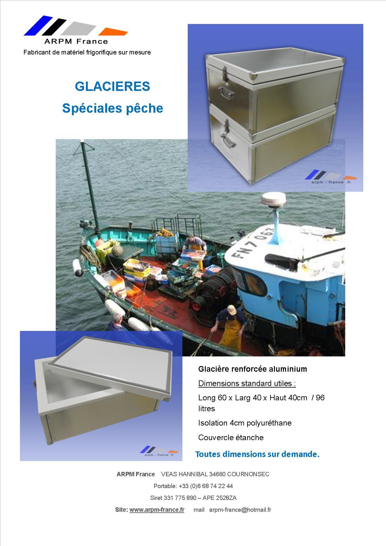 Flyer glacière isotherme pour transport de poisson