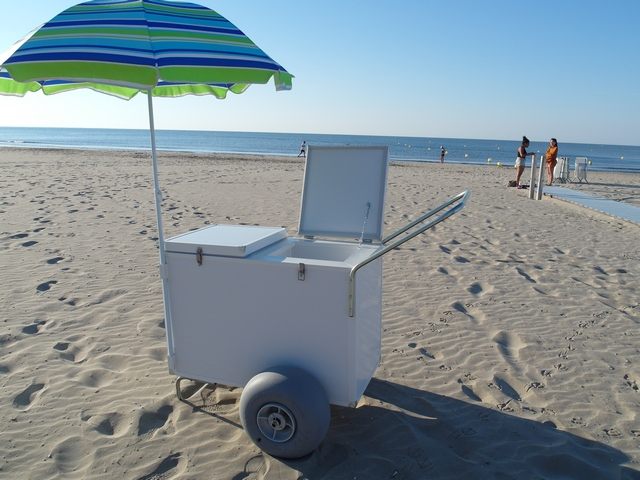 Chariot ambulant spécial plage